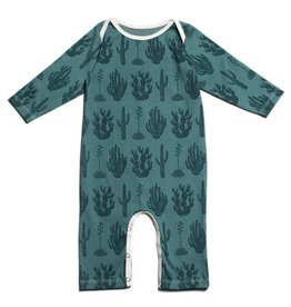 Winter Water Factory Long Sleeve Romper Cactus Teal