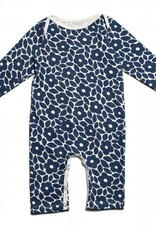 Winter Water Factory Long Sleeve Romper Marrakesh Floral Blue