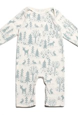 Winter Water Factory Long Sleeve Romper Winter Scenic Pale Blue