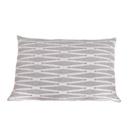 Kreatelier Diamond Pillow in Grey - 15 x 22in