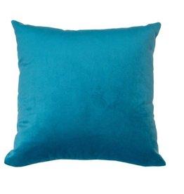 Kreatelier Velvet Pillow in Blue - 16 x 16in