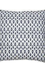 Kreatelier Ikat Teardrop Pillow in Blue - 18 x 18in