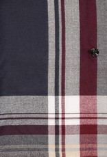 Fraas Border Stripe Collar Poncho Navy