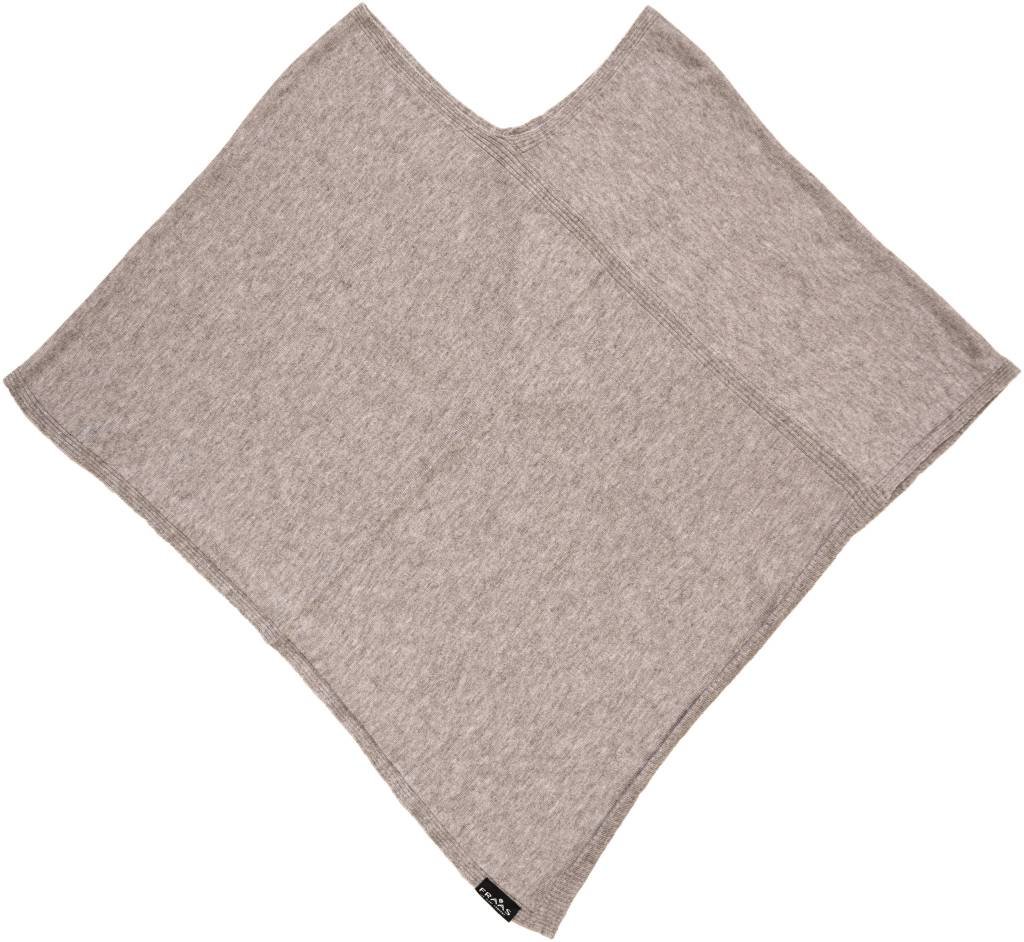 Fraas Triangle Ribbed Poncho Olive