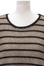 Nally and Millie Brush Stripe Back Pleat Tunic
