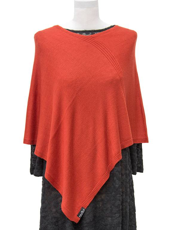 Fraas Triangle Ribbed Poncho Spice