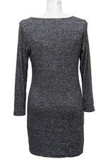 Nally and Millie Brushed Reversible Long Sleeve Dress Grey