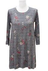 Nally and Millie Houndstooth Floral Dress light grey