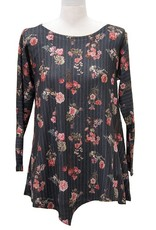 Nally and Millie Floral Stripe Tunic multicolor