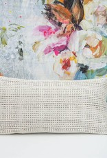 Kreatelier Abstract Pillow in Cream - 11 x 21in