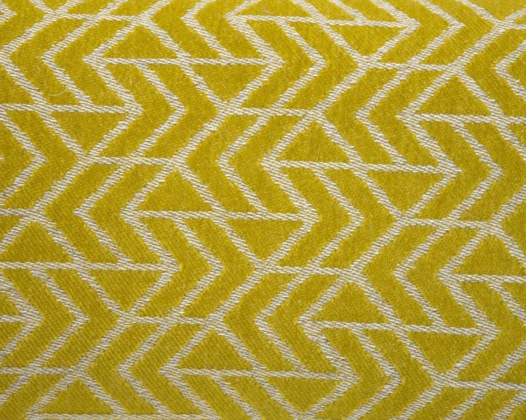 Kreatelier Geometric Pillow in Chartreuse - 11 x 21in