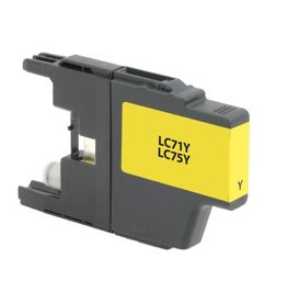 For Brother LC-75 Yellow High Yield
