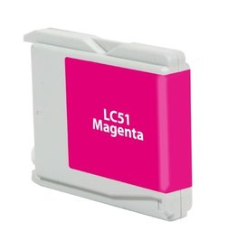 For Brother LC-51 Magenta