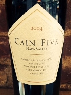 CAIN FIVE RED MERITAGE 2004 750ML