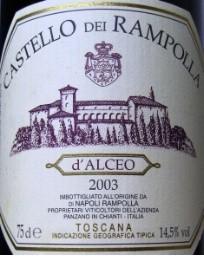 CASTELLO RAMPOLLA D'ALCEO 2003 750ML