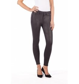 YOGA JEANS HIGH RISE SKINNY SNAKESKIN-LICORICE