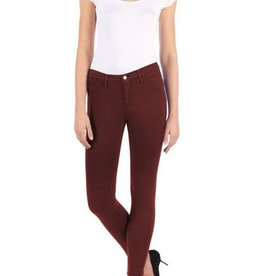 YOGA JEANS HIGH RISE SKINNY JEANS POMEGRANATE