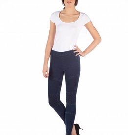 YOGA JEANS HIGH RISE LEGGING W MOTO DETAIL