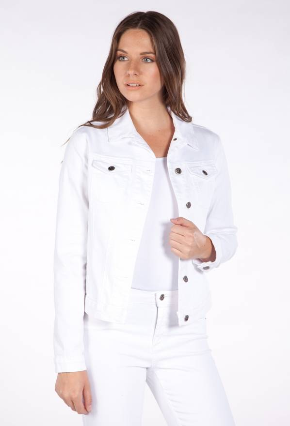 YOGA JEANS CLASSIC JEAN JACKET WHITE