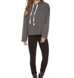 Pullover Hoody W/Pearls Studded Detail Womens