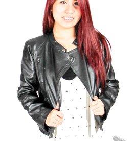 cecico Black Leather Moto Jacket