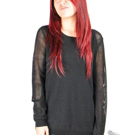 Dex Open Back Sweater - Black