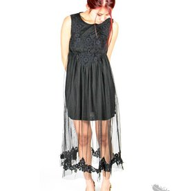 O2 Collection Detailed Bust Dress - Black