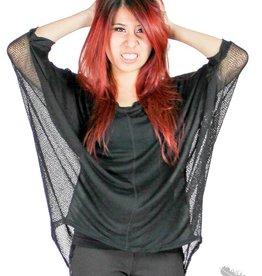 Dex Oversized Mesh Shirt - Black
