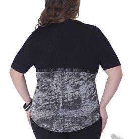 Full Figured Fashionista Stud Burnout T- Shirt
