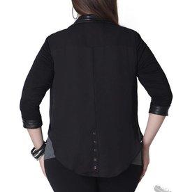 Full Figured Fashionista Tuxedo Blazer - Black