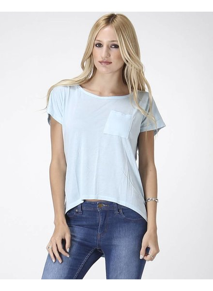 Solid Short Sleeve Casual Top