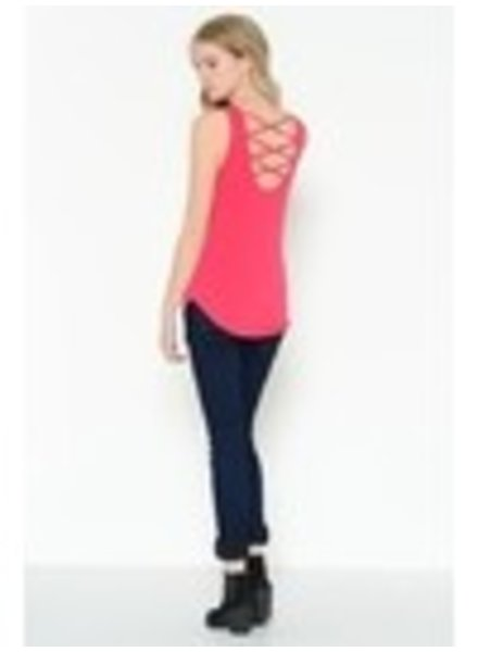 Solid Criss Cross Back Tank Top