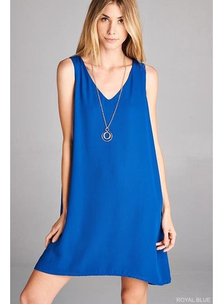 Blue Sleeveless Necessity Dress