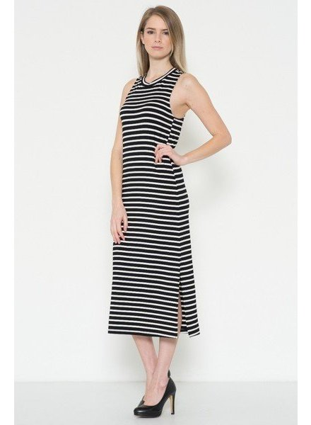 Sleeveless Striped Midi Dress
