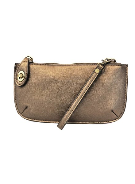 Crossbody Wristlet in Bronze