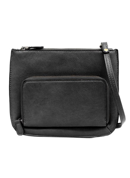 Black Front Pocket Crossbody Bag