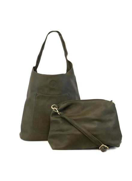 Slouchy Hobo in Olive
