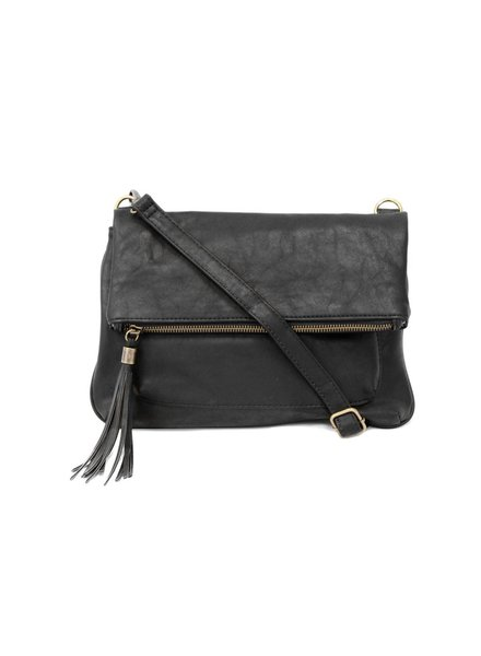 Joy Black Tassel Crossbody