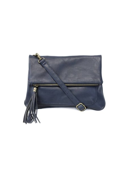 Joy Navy Tassel Crossbody