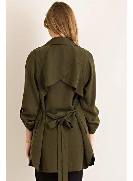 Trench Coat in Olive