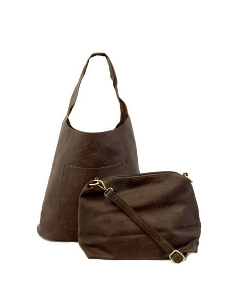 Slouchy Hobo Handbag in Chocolate