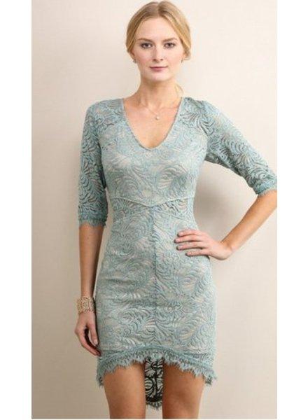 Soieblu Lace Overlay Dress