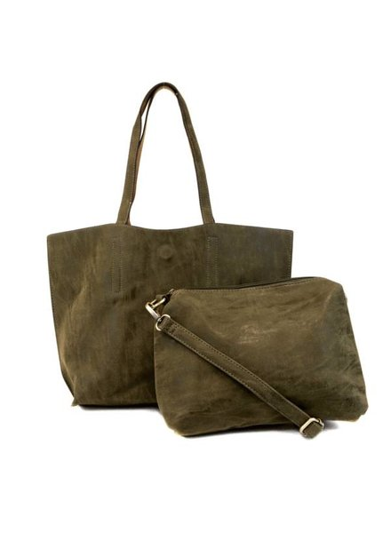 Joy Olive Wheat Reversible Tote