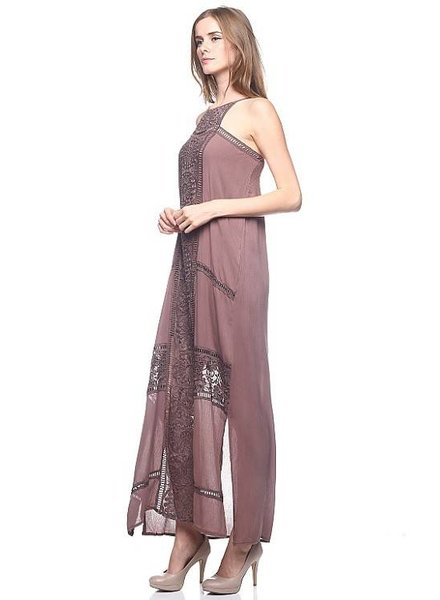 HWA Apparel Boho Detailed Maxi