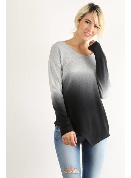 Long Sleeve Ombre Top