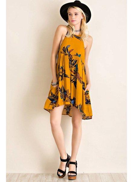 Floral Halter Babydoll Dress