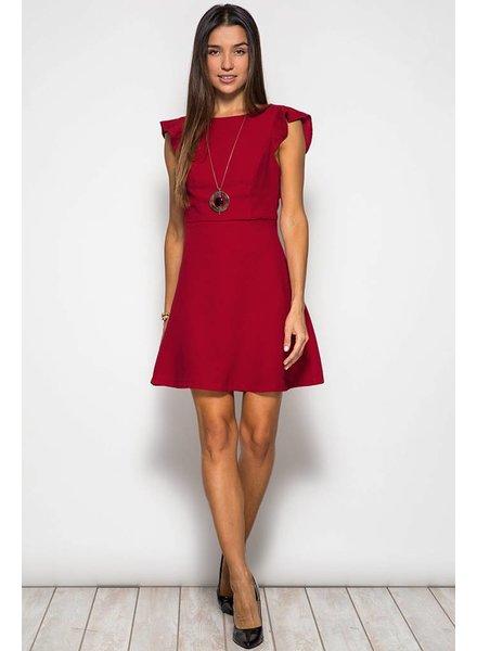 Flutter Cap Sleeve Dress