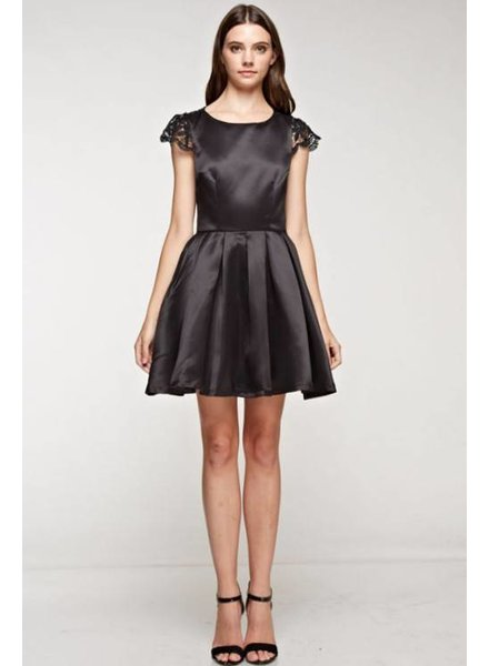 Open Back Lace Mini Dress