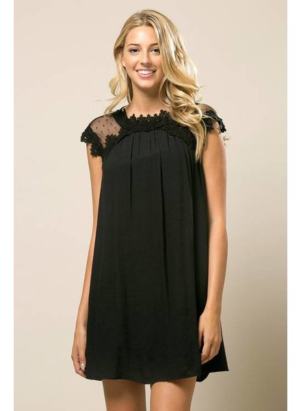Lace Babydoll Dress in Black