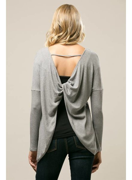 Thermal Knit Top in Grey
